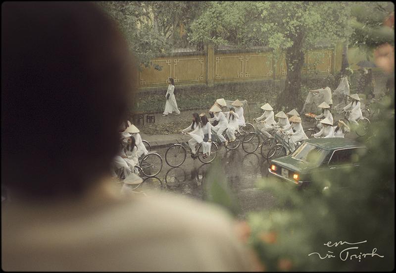 """Một bối cảnh phục dựng ở Huế trong phim """"Em và Trịnh"""". (Ảnh do đoàn phim cung cấp)"""